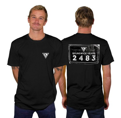 Brunswick heads postcode black shirt